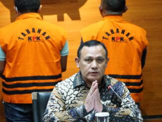 Konferensi pers penetapan tersangka suap di Tanjungbalai, Kamis (22/4/2021).