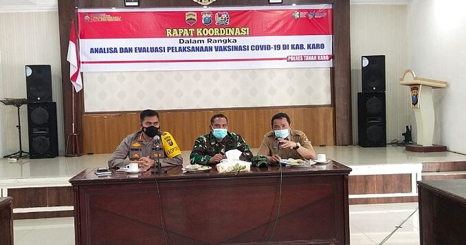 Ket foto: Rapat koor dinasi yang sedang berlangsung saat di purpur Sage polres Tanahkaro, foto terkelinbukit.