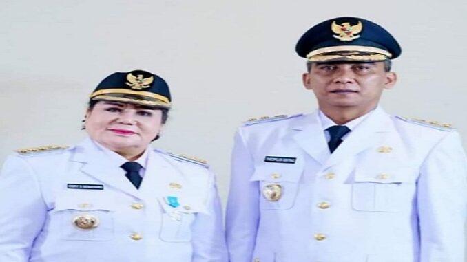 Ket foto; Bupati Karo Cory. Serita Wati br Sebayang dan Theopilus Ginting yang terpilih pada pilkada 2020. foto.(ist) terkelinbukit.