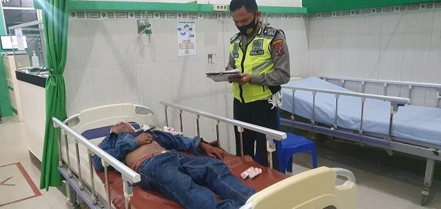 Erikson Saragih mengalami luka berat berobat medis di RS Vita Insani Kota Pematangsiantar.