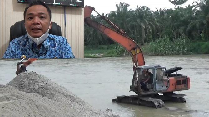 Galian C di alur Sungai Tanjung kabupaten batu bara