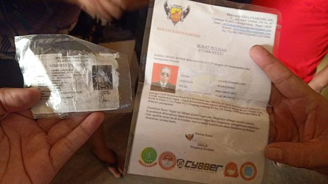 Pelaku curanmor saat diamankan memiliki KTA dan surat Tugas Palsu Media Buser Bhayangkara TV