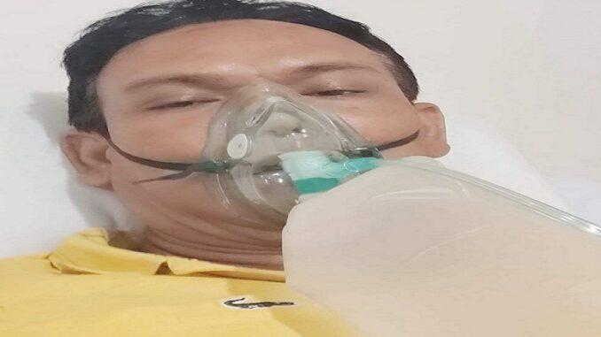 Birgaldo Sinaga saat dalam perawatan akibat Covid-19 ((Photo: Instagram birgaldo_sinaga)