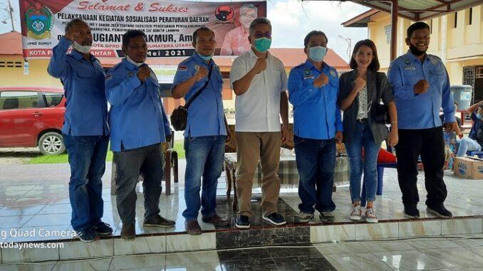 Gerakan Indonesia Anti Narkotika (GIAN) Siantar-Simalungun bersama Anggota DPRD Provsu Sugianto Makmur