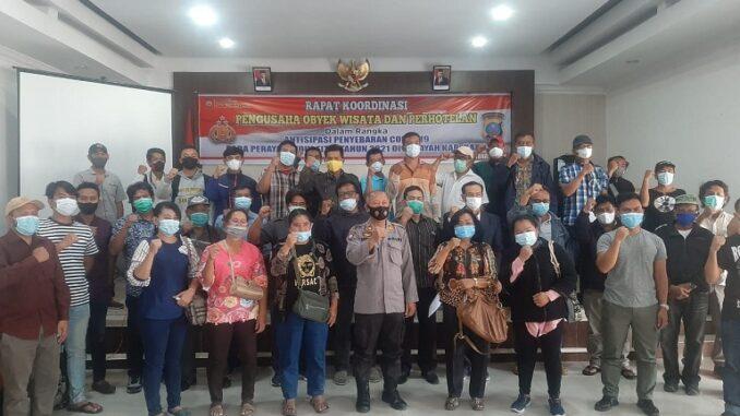 Ket foto;Kabag Ops Kompol Diarma Munthe SH bersama Kasat Binmas AKP Budianta. foto; terkelinbukit
