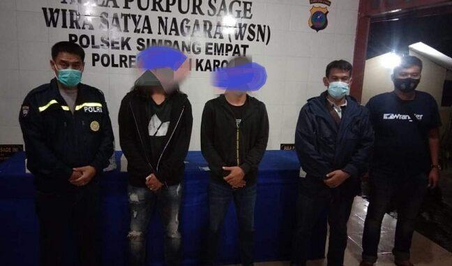 Kapolsek Simpang Empat, AKP.A.Ridwan Harahap menuturkan dua pelaku penganiayaan telah diamankan yaitu NS dan GS.