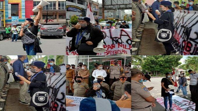 Gerakan Mahasiswa Kristen Indonesia Cabang Pematangsiantar-Simalungun mengadakan aksi turun kejalan terkait kenaikan Nilai Jual objek Pajak Bumi dan Bangunan Perkotaan dan Perdesaan tahun 2021-2023