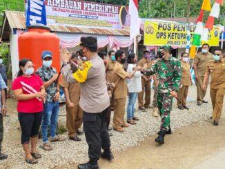 Dandim 0205/TK Dampingi Kapolres Karo Untuk Mengecek Pos Penyekatan Di Perbatasan Karo - NAD