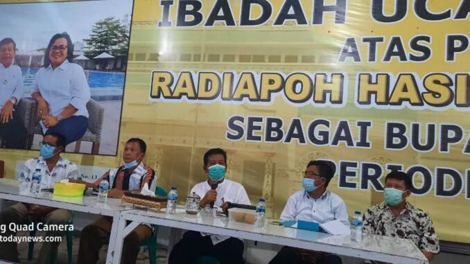 Radiapoh Sinaga dalam acara silaturahmi dengan insan Pers, Senin (11/5/2021)